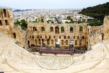 Ncient theatre of Herodes Atticus is a small building of ancient