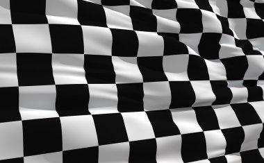Waving checkered flag