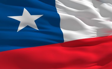 Waving flag of Chile
