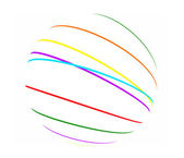 Abstract color lines sphere