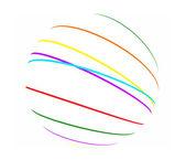 abstraktní barevné linky koule