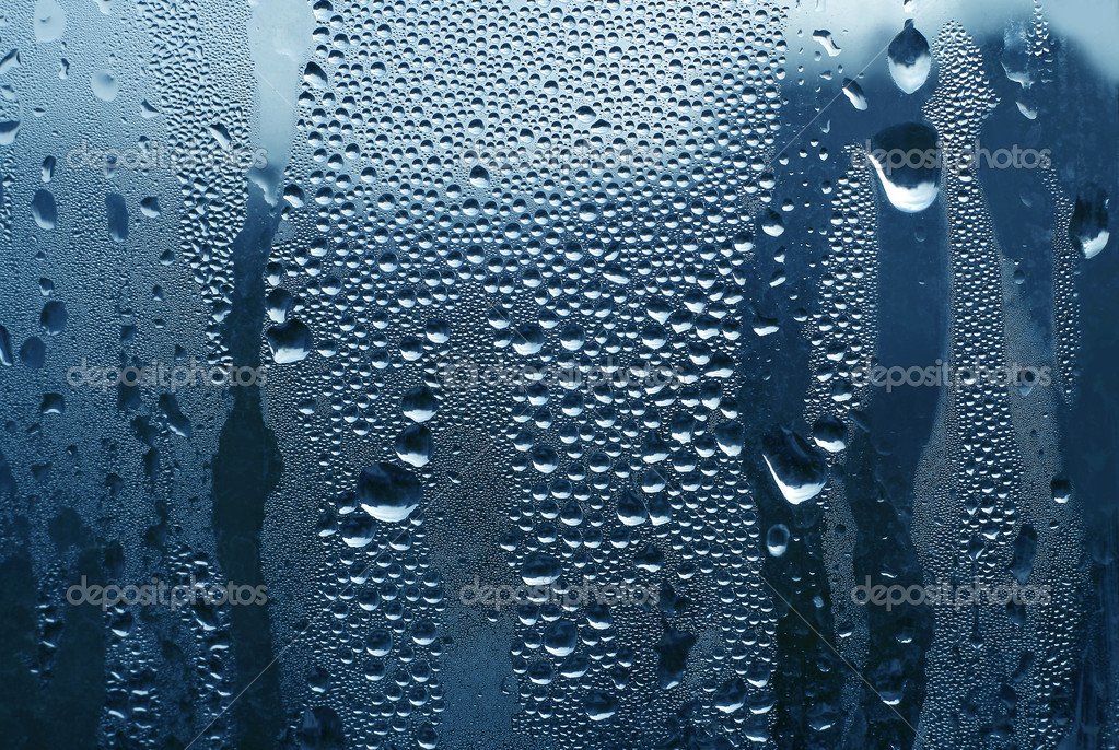 Water drops on glass