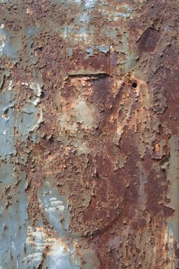 Rusty metal surface texture close up photo