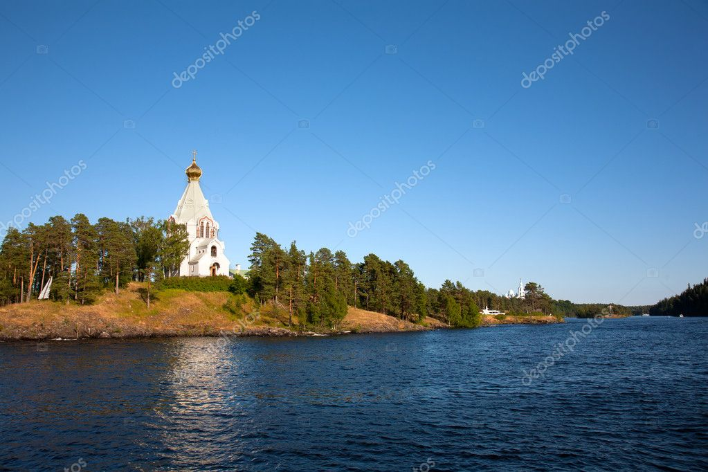 Ladoga lake. Island Valaam