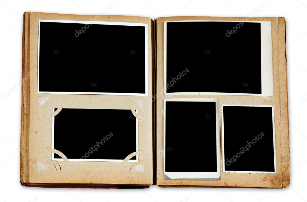 vintage photo album with empty photos stock photo avlntn 2842223. Black Bedroom Furniture Sets. Home Design Ideas