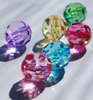 Many-coloured beads