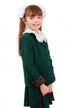 Education. Schoolgirl in school uniform.