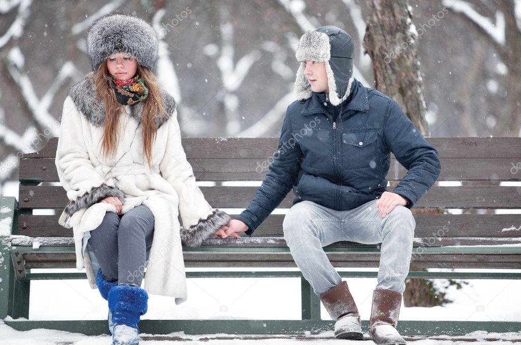 Встретил на улице сокурсницу длинноволосую и отвел домой зимой #12