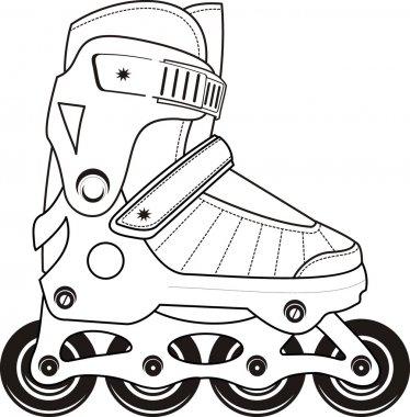 Extreme Sports Roller Skates - contour