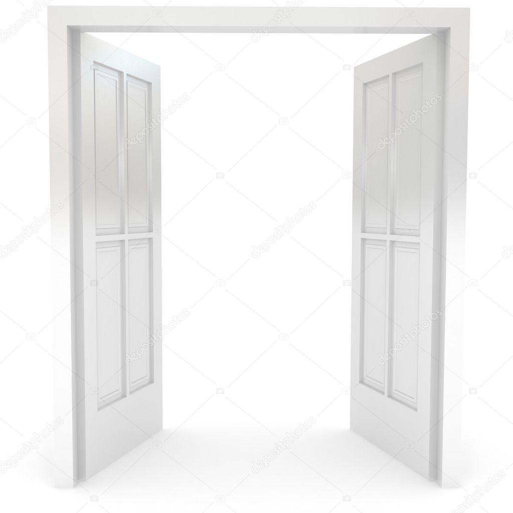 Open door over white stock photo blotty 3861751 for 0pen door
