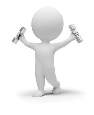 3d small exercises with dumbbells