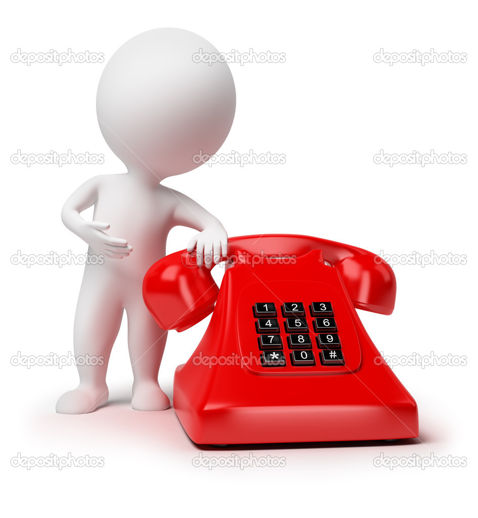 3d small - telephone — Stock Photo © AnatolyM #3789625