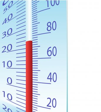 Thermometer illustration on a white background clip art vector