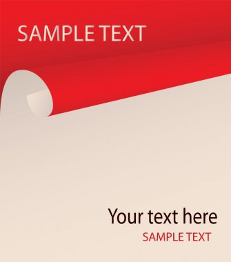 The bent paper with a place for your text