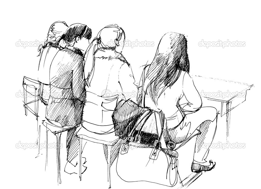 Four students by the back after a schoo