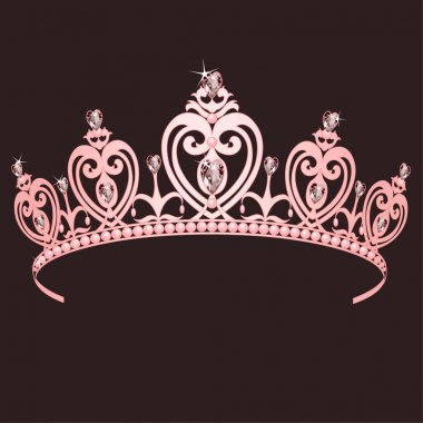 Beautiful shining true princess crown