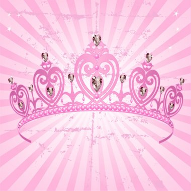 Princess Crown on radial background