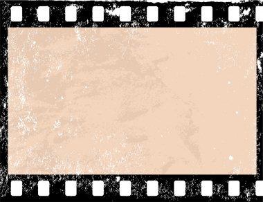 Illustration of a grunge filmstrip frame stock vector