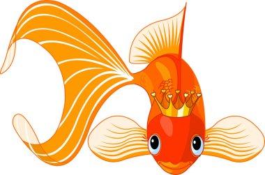 Cartoon Goldfish queen