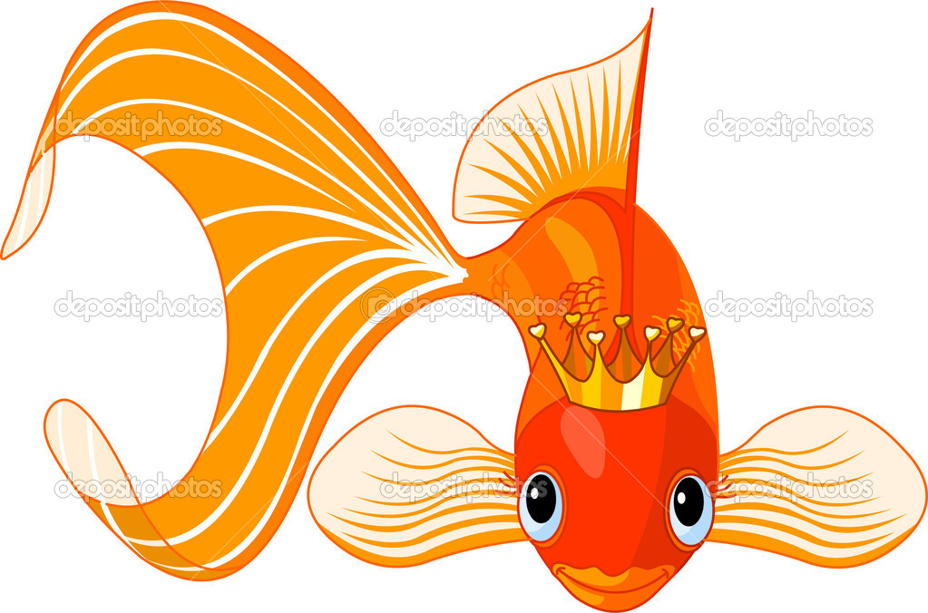 Reine de poisson rouge dessin anim image vectorielle for Aquarium poisson rouge dessin