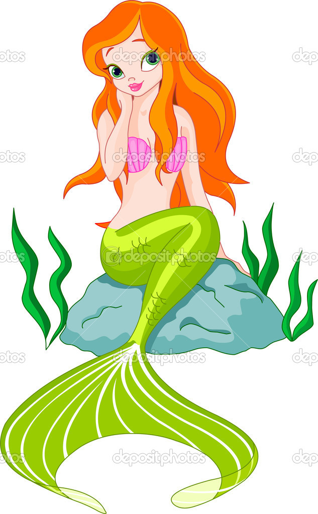 Beautiful Mermaid Vector Image By C Dazdraperma Vector Stock 3219865