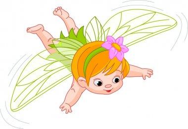 Baby fairy in flight