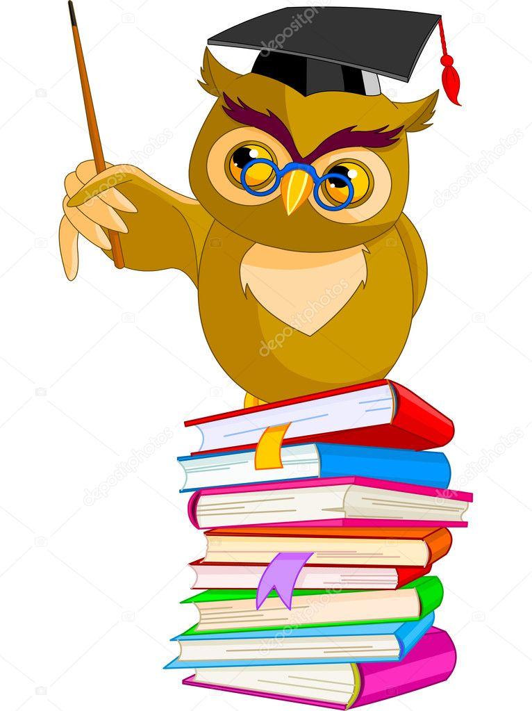 cartoon wise owl stock vector dazdraperma 3627329 rh depositphotos com Looking Ahead Clip Art Tree of Knowledge Clip Art