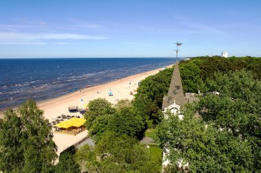 View from above on Jurmala beach