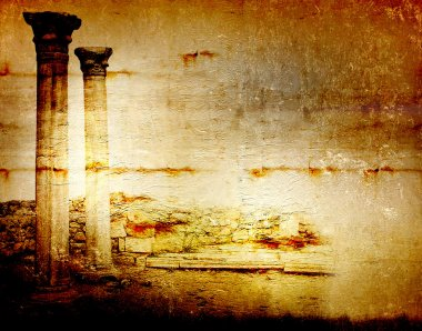 Abstract scratch ancient background