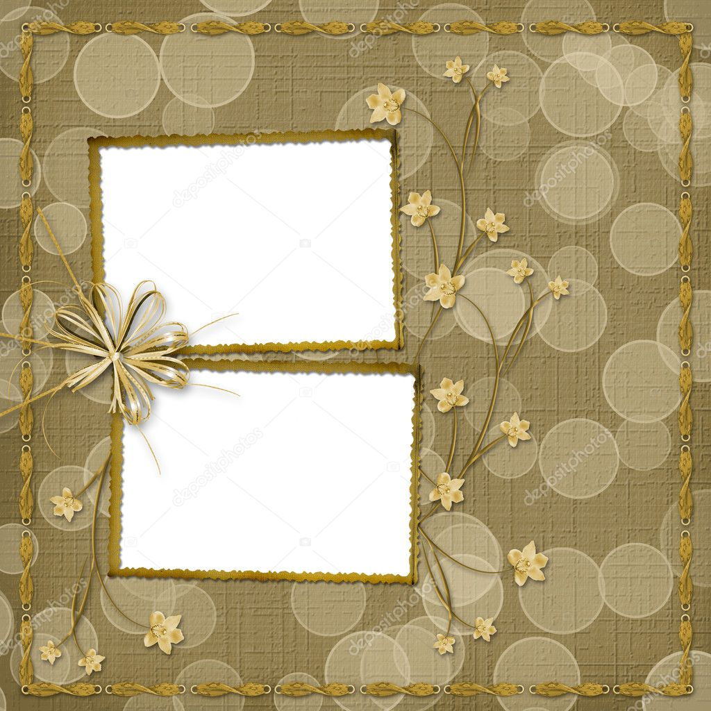 Card for invitation with orchids