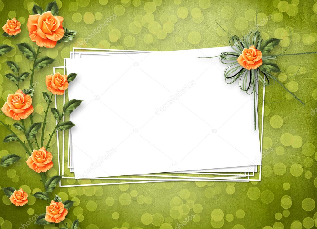 Grunge paper for congratulation