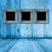 alter Raum, Grunge-Interieur mit Rahmen