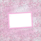 Photo Card for invitation or congratulation with bow and ribbons