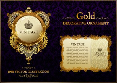 Gold vitnage decorative ornament