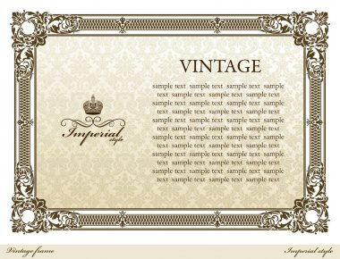 Medieval vintage frame brown