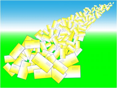 Letters avalanche