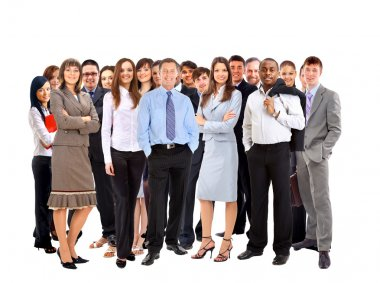 Young attractive business - the elite business team