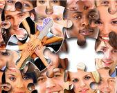 Skupina podniků v kousky puzzle