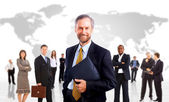 Skupina podnikání. izolované na bílém pozadí