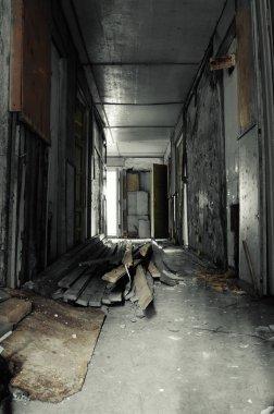Hallway in Abandoned Building
