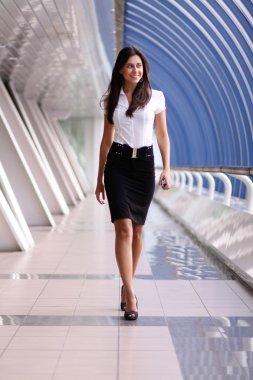 Beautiful walking woman