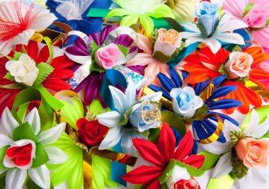 Background from varicoloured flowers