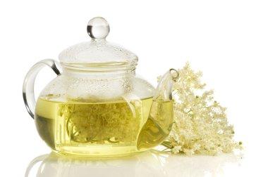 Herbal medicine, tea with elder flower