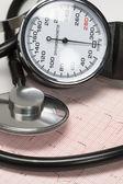 stetoskop a kardiogram