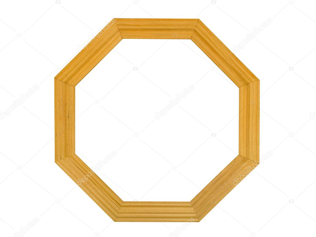 Eight-square wooden frame — Stock Photo © Violin #3922352