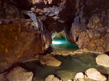 Lake in cave