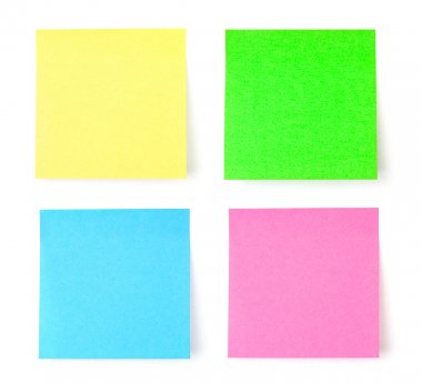 Multicolored postit note paper