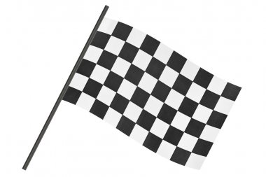 Checkered finish flag