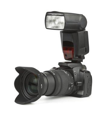 Photo camera and flash