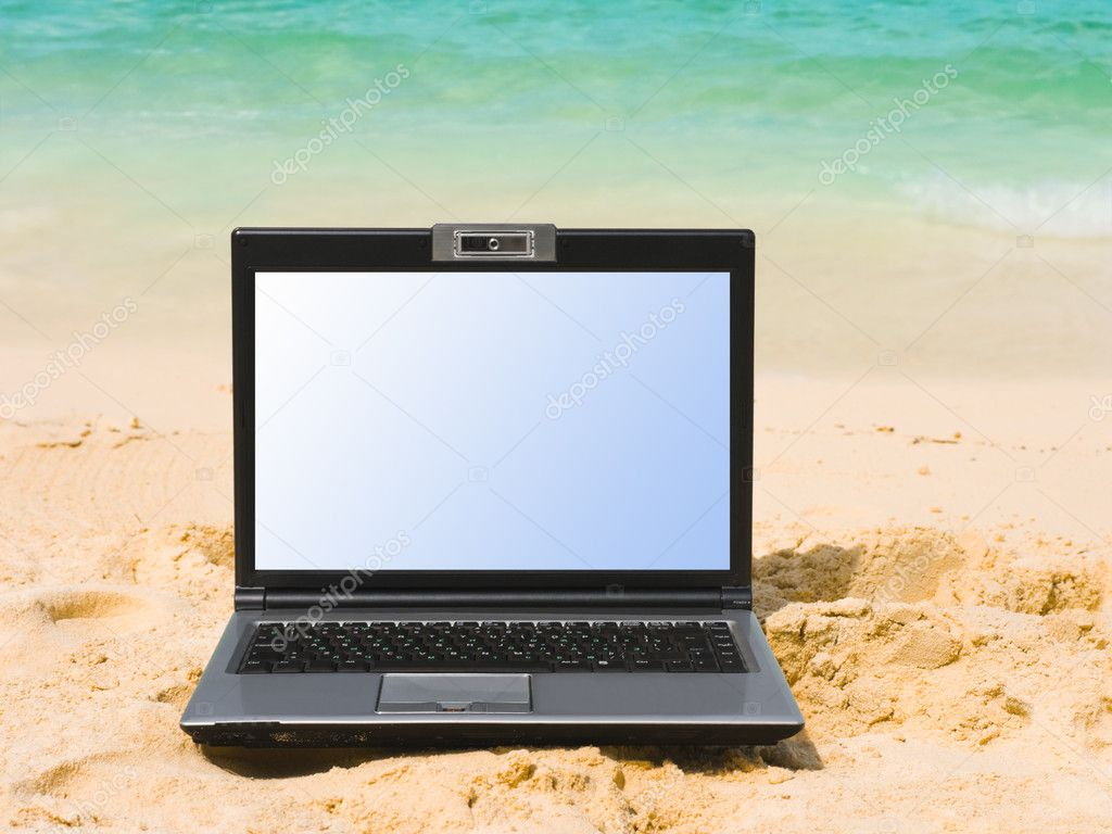 Notebook on beach